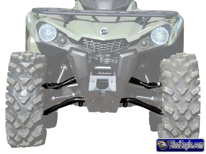 Complete high clearance front A arms Can Am Outlander