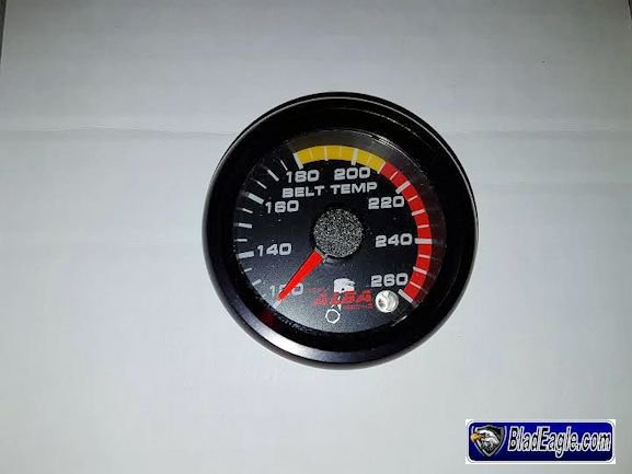 Temperature belt gauge